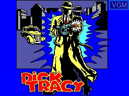 Title screen of the game Dick Tracy on Sega Master System