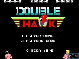 Title screen of the game Double Hawk on Sega Master System