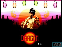 Title screen of the game Dragon - The Bruce Lee Story on Sega Master System