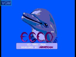 Title screen of the game Ecco the Dolphin on Sega Master System