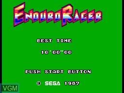 Title screen of the game Enduro Racer on Sega Master System