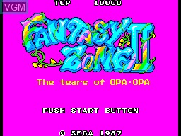 Title screen of the game Fantasy Zone II - The Tears of Opa-Opa on Sega Master System
