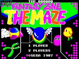 Title screen of the game Fantasy Zone - The Maze on Sega Master System