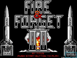Title screen of the game Fire & Forget 2 on Sega Master System