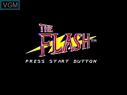 Title screen of the game Flash, The on Sega Master System