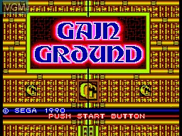 Title screen of the game Gain Ground on Sega Master System