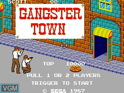 Title screen of the game Gangster Town on Sega Master System