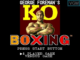 Title screen of the game George Foreman's KO Boxing on Sega Master System