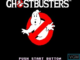 Title screen of the game Ghostbusters on Sega Master System