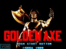 Title screen of the game Golden Axe on Sega Master System