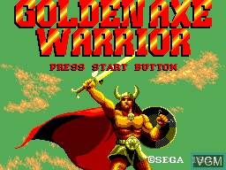 Title screen of the game Golden Axe Warrior on Sega Master System