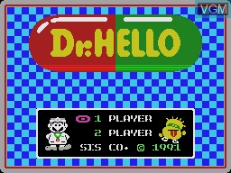 Title screen of the game Dr. HELLO on Sega Master System