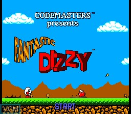 Title screen of the game Fantastic Dizzy on Sega Master System