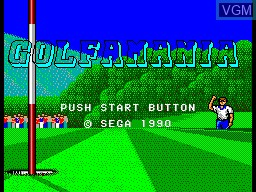 Title screen of the game Golf Mania on Sega Master System