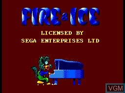 Title screen of the game Fire & Ice on Sega Master System