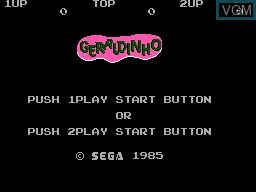 Title screen of the game Geraldinho on Sega Master System