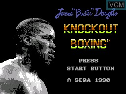 Title screen of the game James 'Buster' Douglas Knockout Boxing on Sega Master System