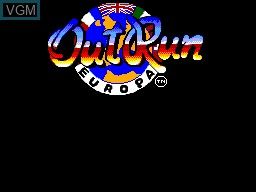 Title screen of the game OutRun Europa on Sega Master System