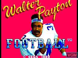 Title screen of the game Walter Payton Football on Sega Master System