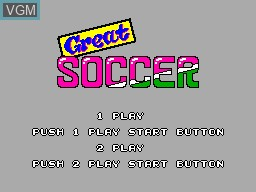 Title screen of the game Great Soccer on Sega Master System
