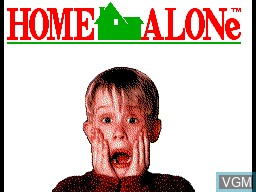Title screen of the game Home Alone on Sega Master System