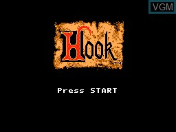 Title screen of the game Hook on Sega Master System