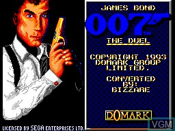 Title screen of the game James Bond 007 - The Duel on Sega Master System