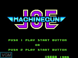 Title screen of the game Machine Gun Joe on Sega Master System