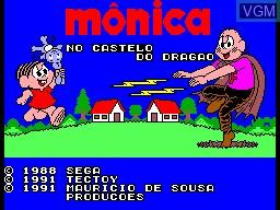 Title screen of the game Monica no Castelo do Dragao on Sega Master System