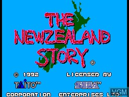 Title screen of the game New Zealand Story, The on Sega Master System