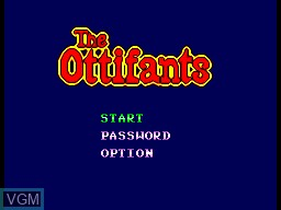 Title screen of the game Ottifants, The on Sega Master System