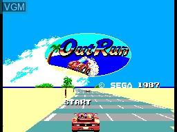Title screen of the game OutRun on Sega Master System