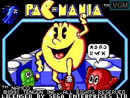 Title screen of the game Pac-Mania on Sega Master System