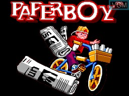Title screen of the game Paperboy on Sega Master System