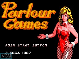 Title screen of the game Parlour Games on Sega Master System