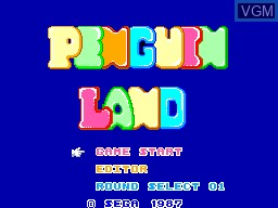 Title screen of the game Penguin Land on Sega Master System