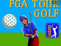 Title screen of the game PGA Tour Golf on Sega Master System