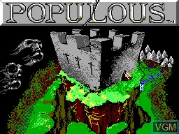 Title screen of the game Populous on Sega Master System