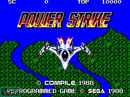 Title screen of the game Power Strike on Sega Master System