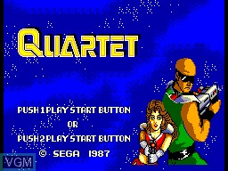 Title screen of the game Quartet on Sega Master System