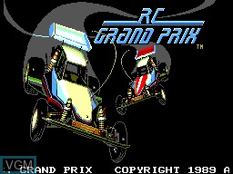 Title screen of the game R.C. Grand Prix on Sega Master System