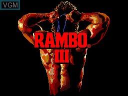 Title screen of the game Rambo III on Sega Master System