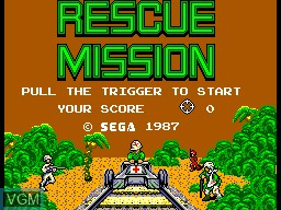 Title screen of the game Rescue Mission on Sega Master System