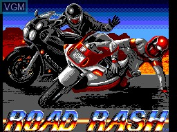 Title screen of the game Road Rash on Sega Master System