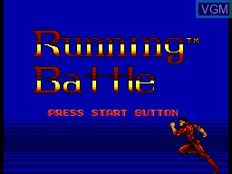 Title screen of the game Running Battle on Sega Master System