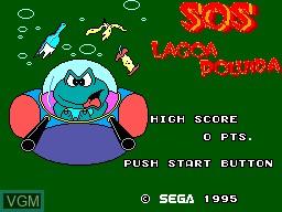 Title screen of the game Sapo Xule SOS Lagoa Poluida on Sega Master System