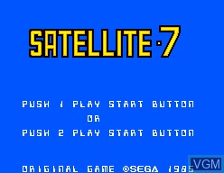 Title screen of the game Satellite 7 on Sega Master System