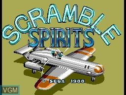 Title screen of the game Scramble Spirits on Sega Master System
