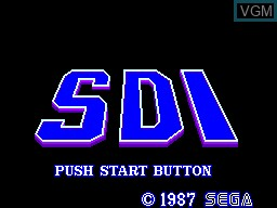 Title screen of the game SDI on Sega Master System