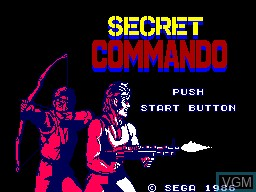 Title screen of the game Secret Commando on Sega Master System